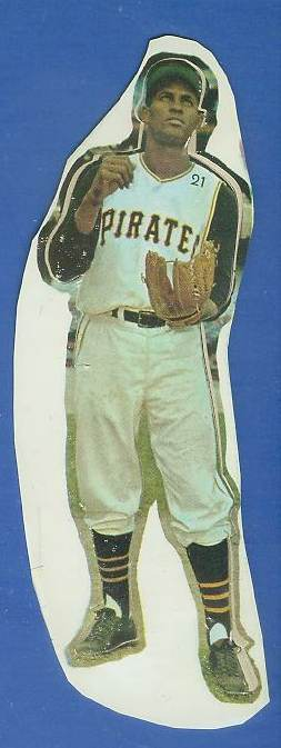 1960 Pirates Tag-Ons #21 Roberto Clemente Baseball cards value