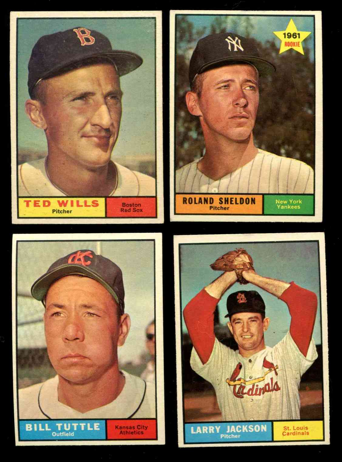 1961 Topps #536 Bill Tuttle SCARCE HIGH # (A's/Twins) Baseball cards value