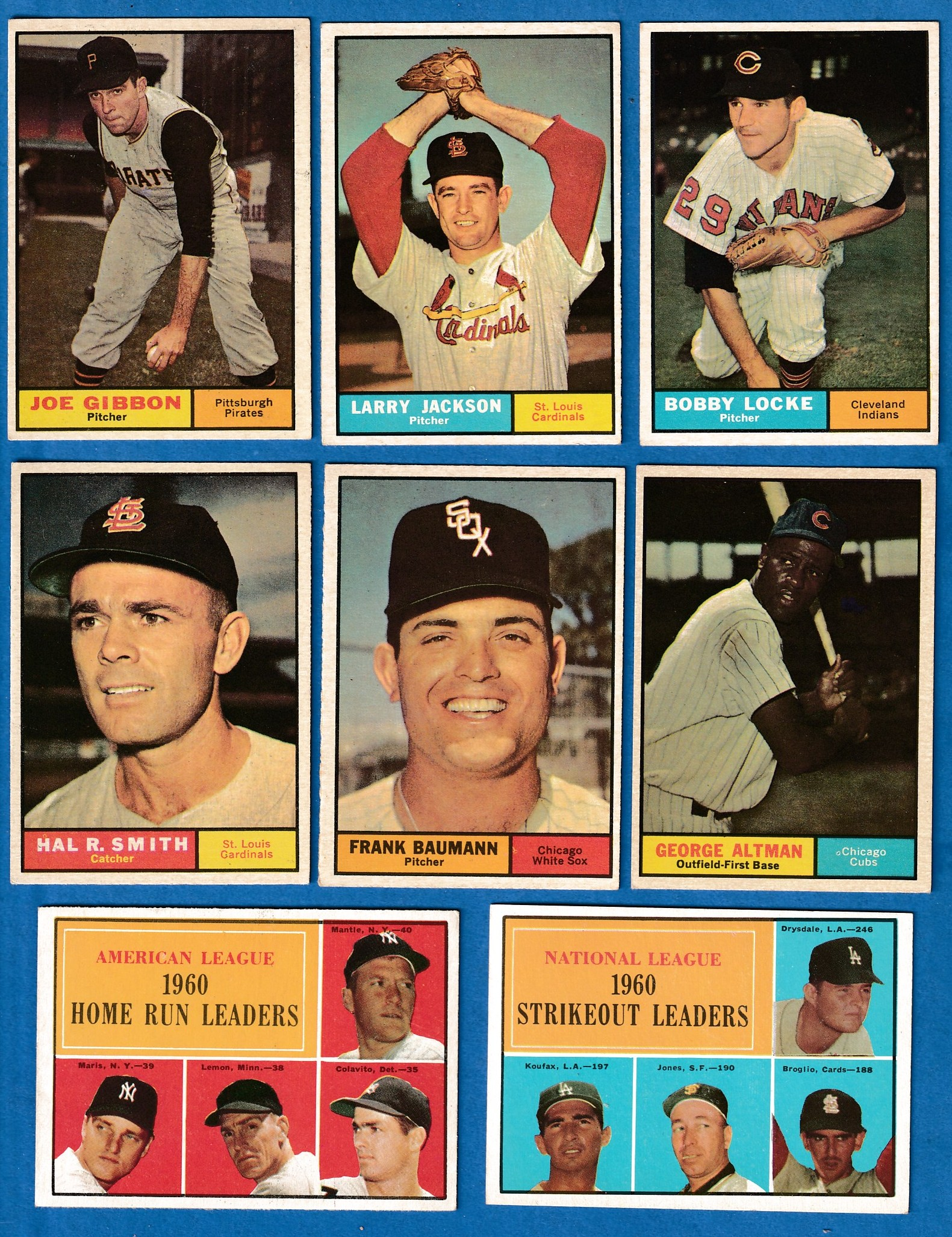 1961 Topps # 49 N.L. Strikeout Leaders (Don Drysdale/Sandy Koufax) Baseball cards value