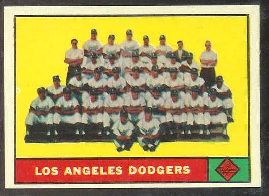 1961 Topps # 86 Dodgers TEAM card [#a] Baseball cards value