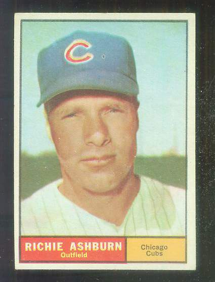 1961 Topps # 88 Richie Ashburn [#b] (Cubs) Baseball cards value