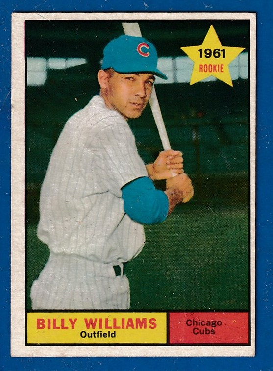 1961 Topps #141 Billy Williams ROOKIE [#a] (Cubs) Baseball cards value
