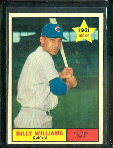 1961 Topps #141 Billy Williams ROOKIE [#b] (Cubs) Baseball cards value