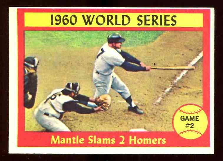 1961 Topps #307 Mickey Mantle - World Series Game #2 [#a] Baseball cards value