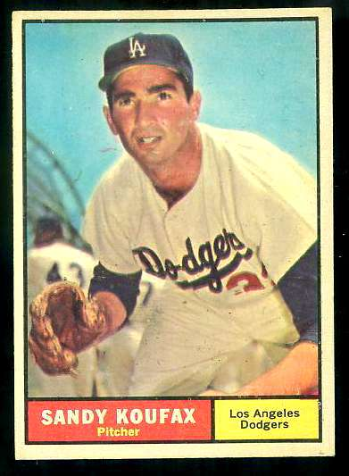 1961 Topps #344 Sandy Koufax [#b] (Dodgers) Baseball cards value
