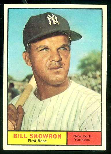 1961 Topps #371 Bill 'Moose' Skowron SHORT PRINT (Yankees) Baseball cards value