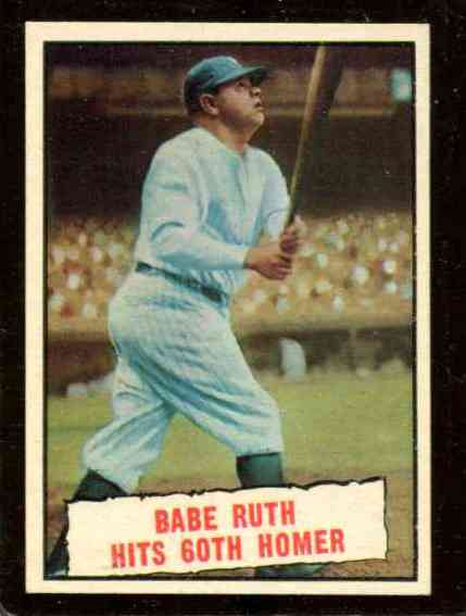 1961 Topps #401 Babe Ruth  'Hits 60th Homer' [#b] (Yankees) Baseball cards value