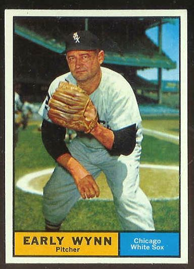 1961 Topps #455 Early Wynn [#a] (White Sox) Baseball cards value