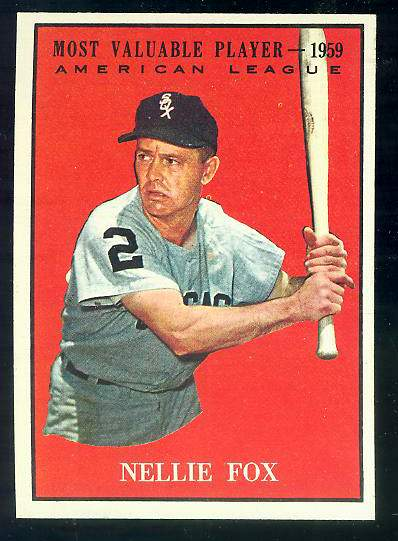 1961 Topps #477 Nellie Fox MVP [#a] (White Sox) Baseball cards value