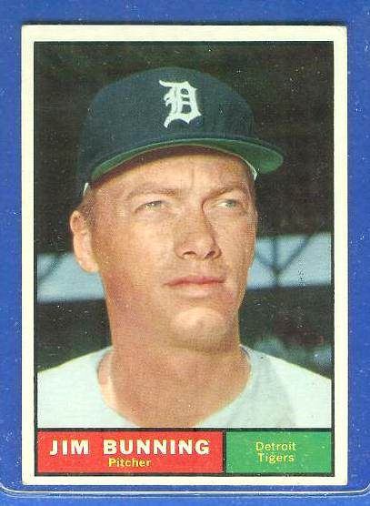 1961 Topps #490 Jim Bunning [#csc] (Tigers) Baseball cards value
