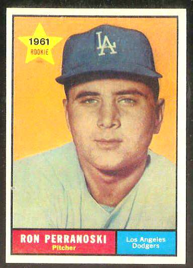 1961 Topps #525 Ron Perranoski ROOKIE SCARCE HIGH # [#a] (Dodgers) Baseball cards value