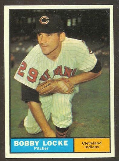 1961 Topps #537 Bobby Locke SCARCE HIGH # [#a] (Indians) Baseball cards value