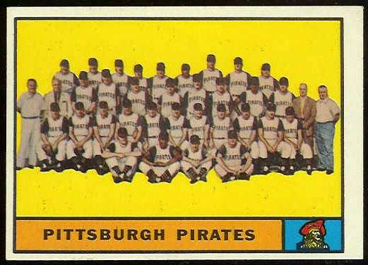 1961 Topps #554 Pirates TEAM card SCARCE HIGH # [#a] Baseball cards value