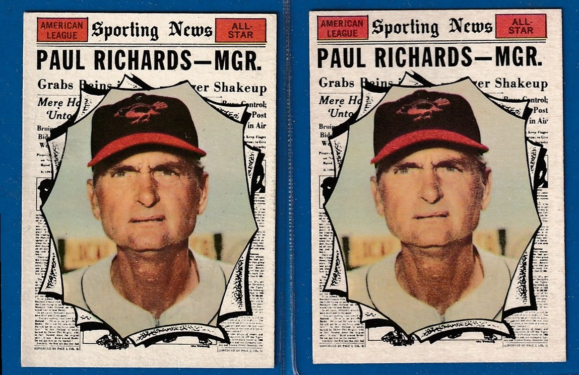 1961 Topps #566 Paul Richards All-Star SCARCE HIGH # (Orioles) Baseball cards value