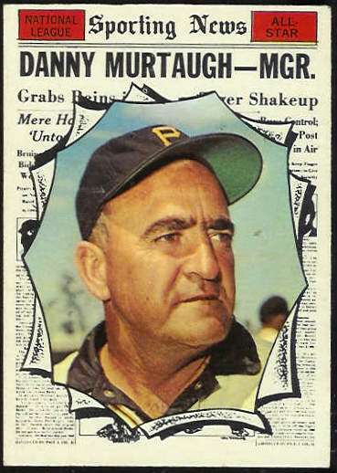 1961 Topps #567 Danny Murtaugh All-Star SCARCE HIGH # (Pirates) Baseball cards value