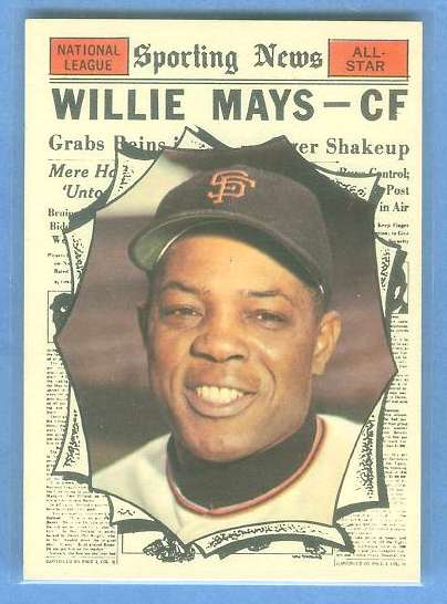 1961 Topps #579 Willie Mays All-Star [#b] SCARCE HIGH # (Giants) Baseball cards value