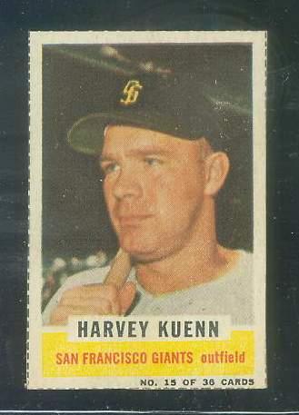 1961 Bazooka #15 Harvey Kuenn (Giants) Baseball cards value
