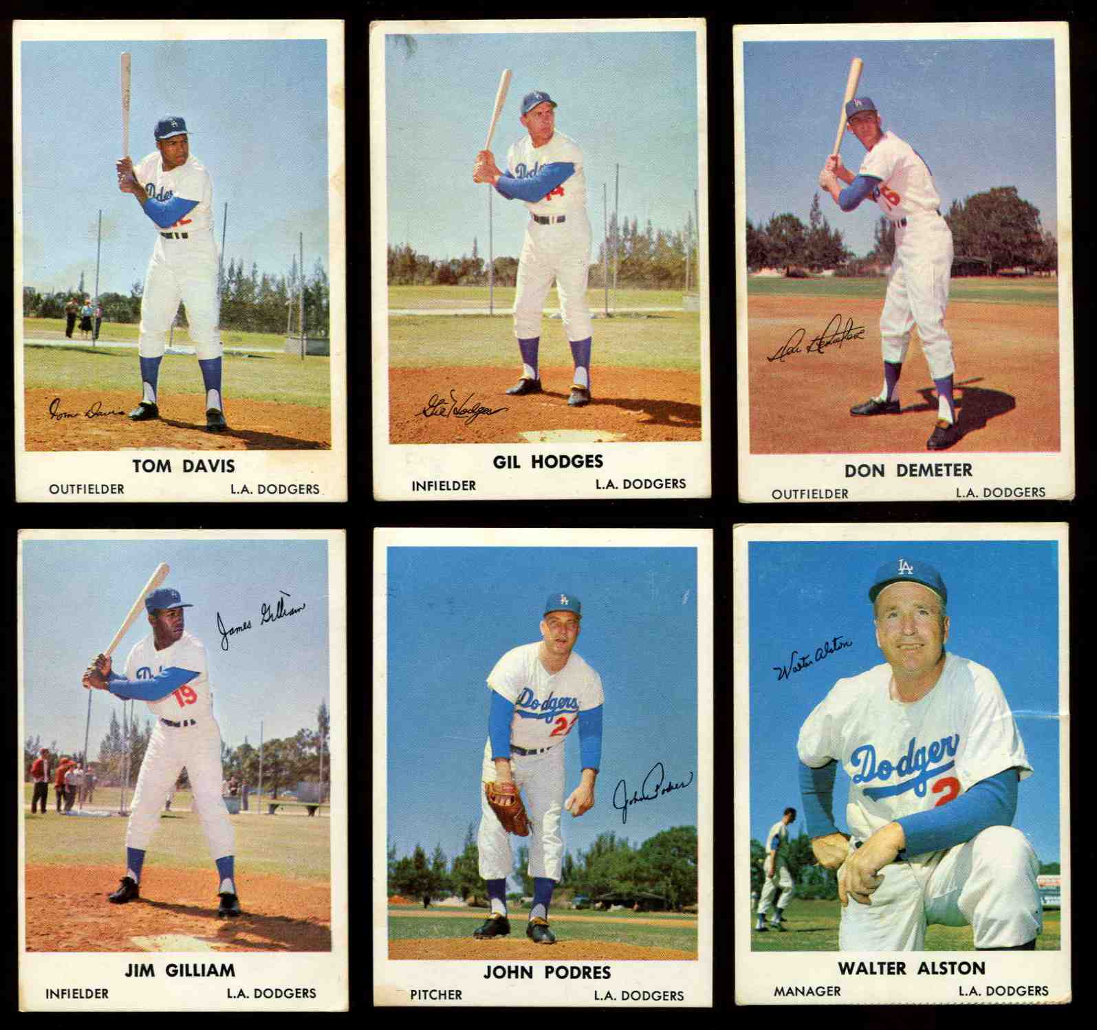 1961 Bell Brand Dodgers #14 Gil Hodges Baseball cards value