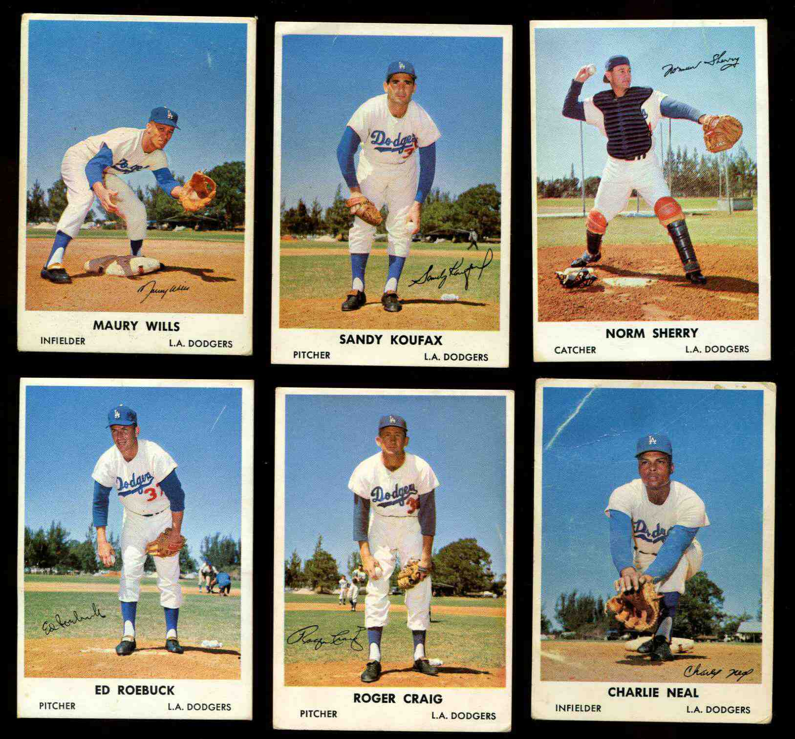 1961 Bell Brand Dodgers #43 Charlie Neal Baseball cards value