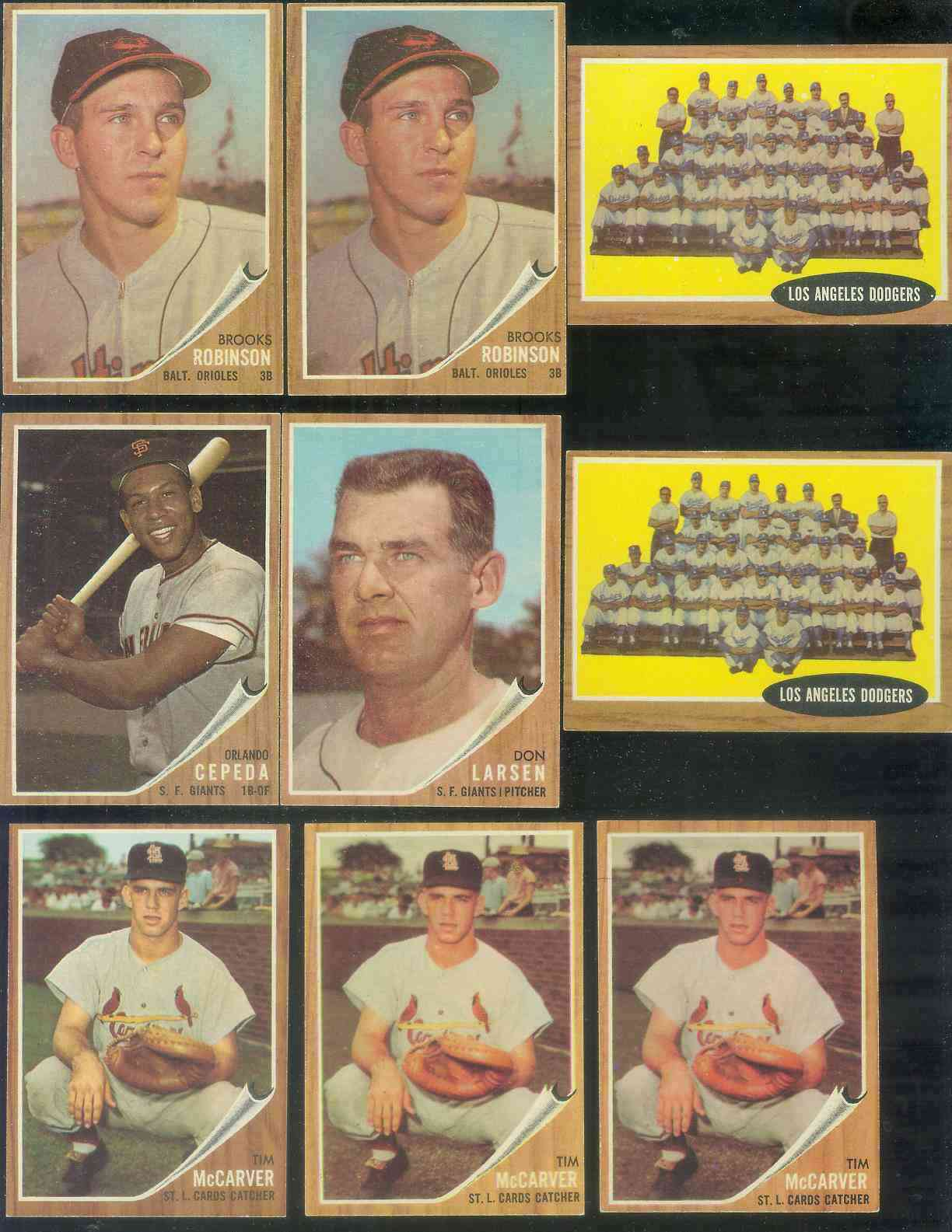 1962 Topps #167 Tim McCarver ROOKIE [#b] (Green TINT VARIATION) (Cardinals) Baseball cards value