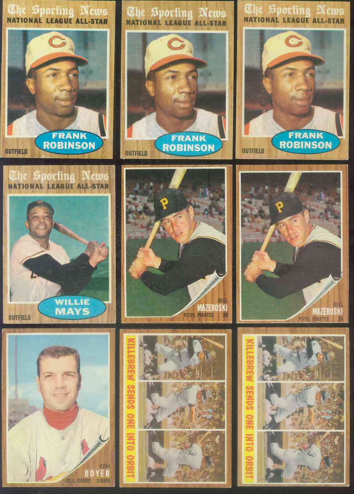 1962 Topps #396 Frank Robinson All-Star (Reds) Baseball cards value
