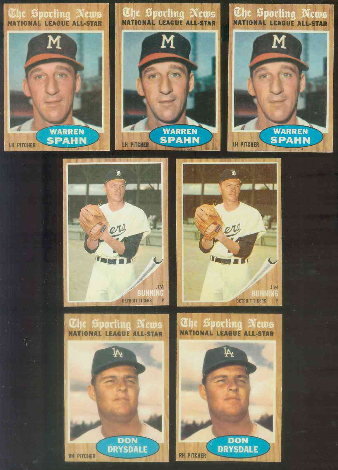1962 Topps #460 Jim Bunning [#b] (Tigers) Baseball cards value