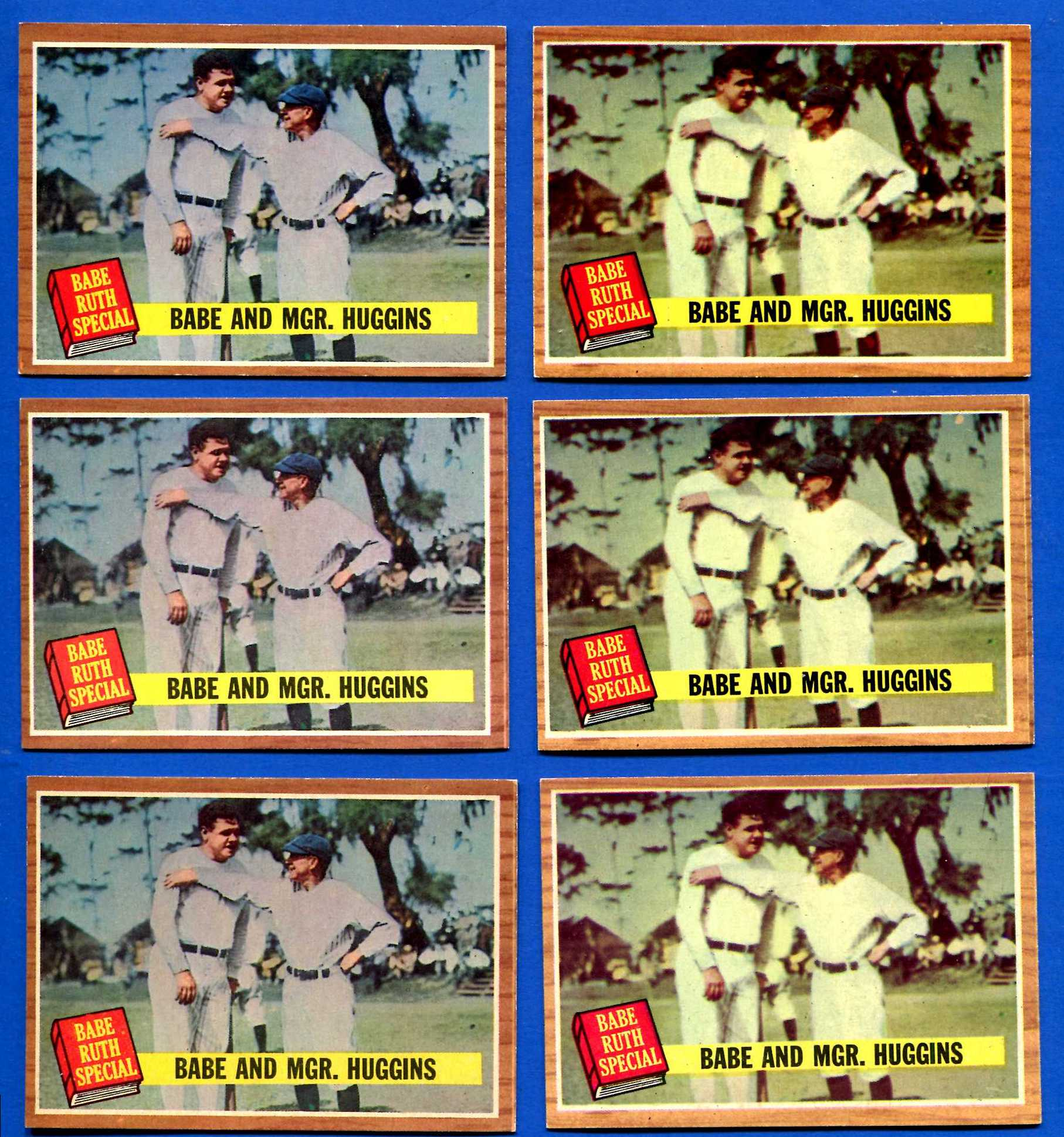 1962 Topps #137 Babe Ruth Special #3 (with Miller Huggins) (Yankees) Baseball cards value