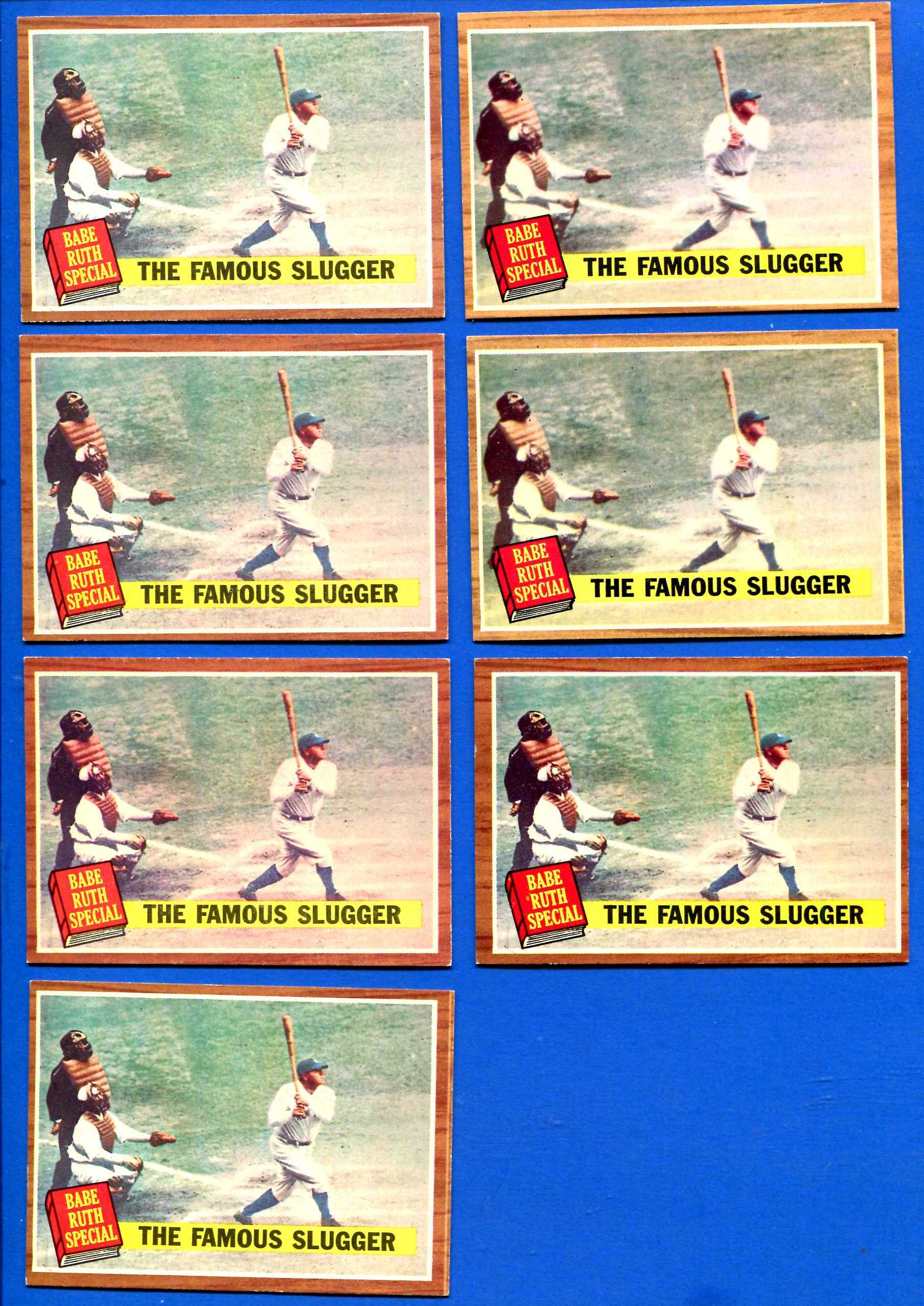 1962 Topps #138 Babe Ruth Special #4 'Famous Slugger' (Yankees) Baseball cards value