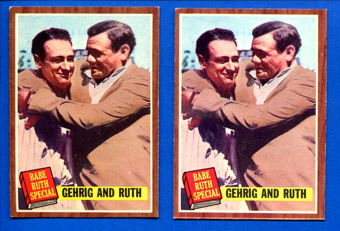 1962 Topps #140 Babe Ruth Special #6 with LOU GEHRIG (Yankees) Baseball cards value