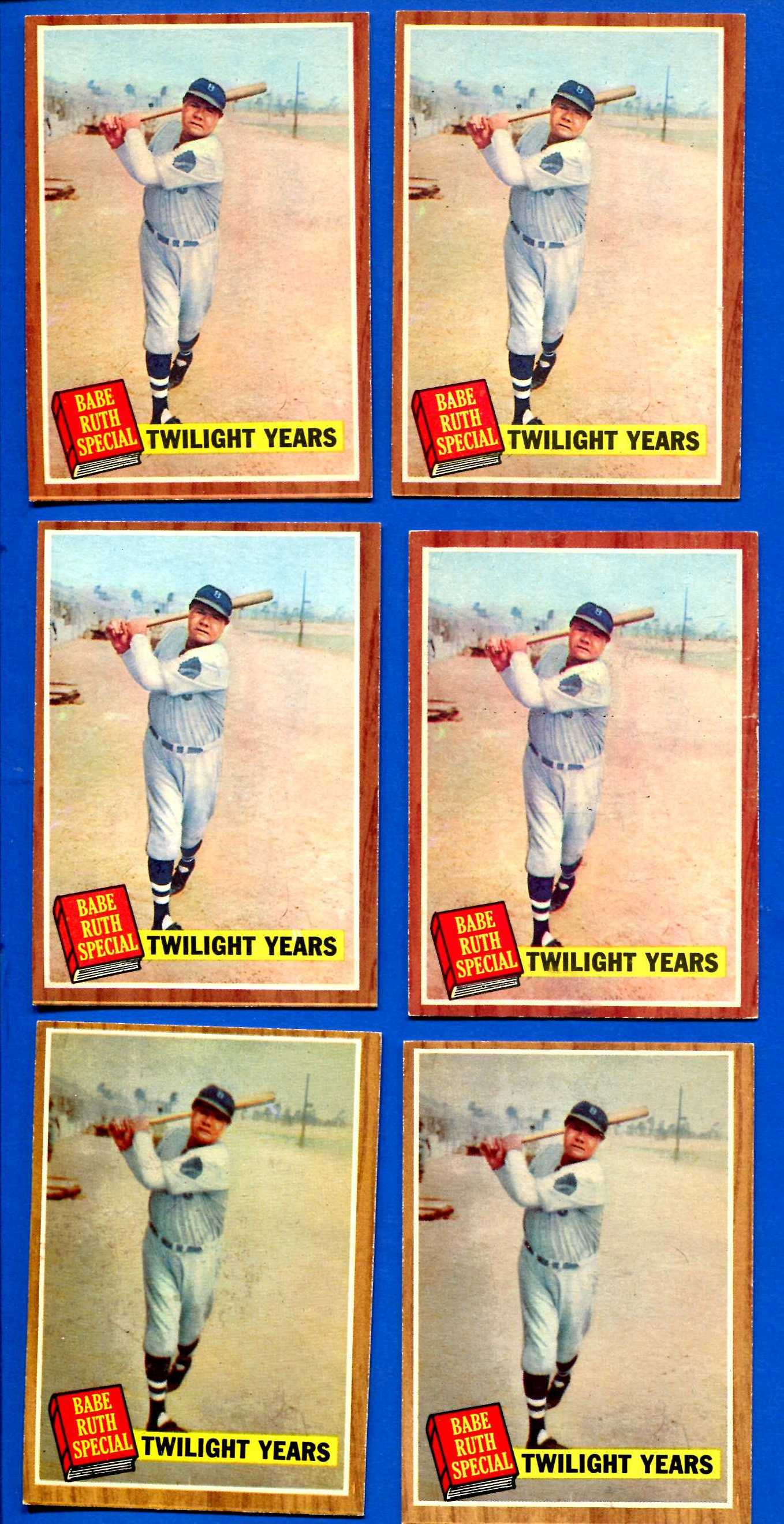 1962 Topps #141 Babe Ruth Special #7 [Green TINT] 'Twilight Years'(Yankees) Baseball cards value