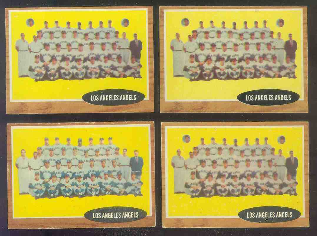 1962 Topps #132B Los Angeles Angels TEAM (VAR: With tiny photo) Baseball cards value