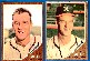 1962 Topps #174BA Carl Willey COMBO w/BOTH VARIATIONS !!! [#x] (Braves)