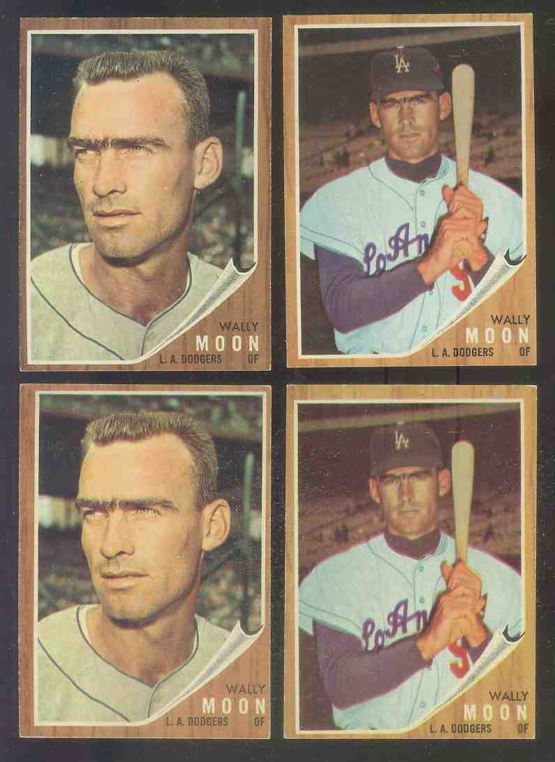 1962 Topps #190A Wally Moon (Portrait variation) (Dodgers) Baseball cards value