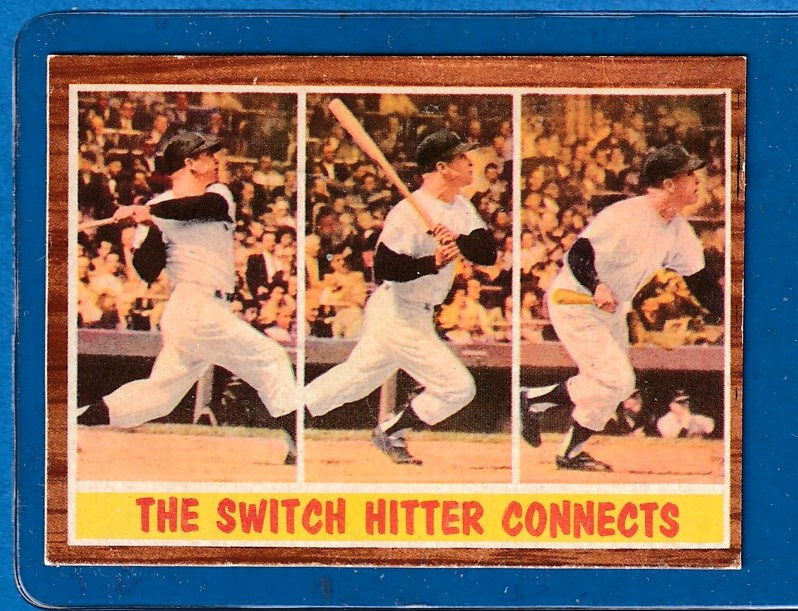 1962 Topps #318 Mickey Mantle In-Action (Yankees) Baseball cards value