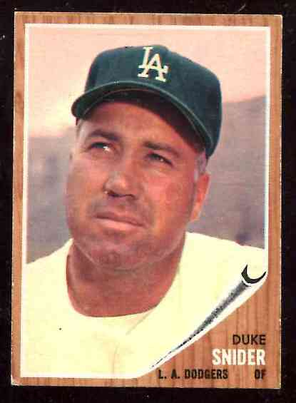 1962 Topps #500 Duke Snider [#asc] (Dodgers) Baseball cards value