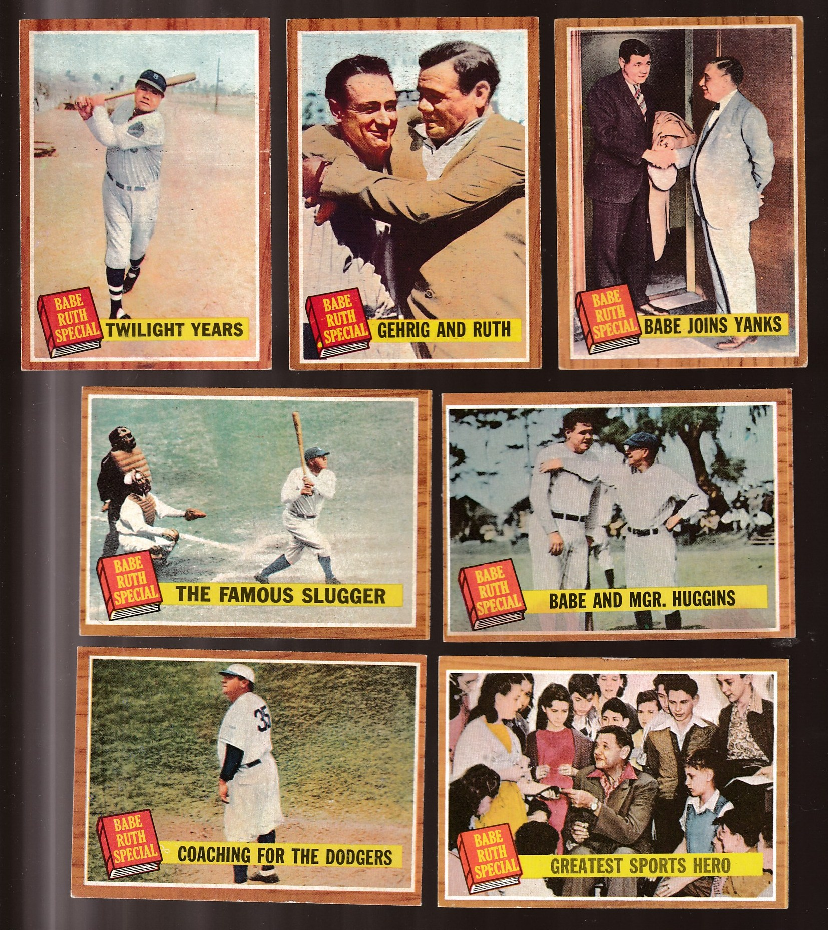 1962 Topps #136-143 Babe Ruth Specials - Near Set/Lot of (7) different Baseball cards value