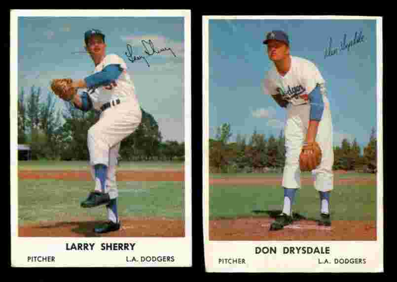1962 Bell Brand Dodgers #51 Larry Sherry Baseball cards value