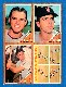 1962 Topps  4-Card PANEL - with Tony Kubek (Yankees)