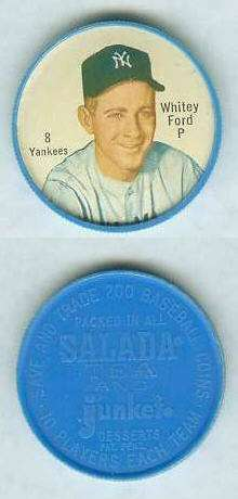 1962 Salada Coins #..8 Whitey Ford (Yankees) Baseball cards value