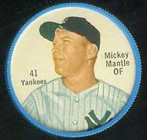 1962 Salada Coins #.41 Mickey Mantle (Yankees) Baseball cards value