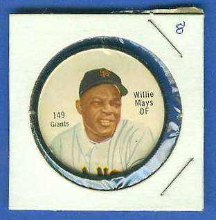 1962 Salada Coins #149B Willie Mays (BLACK) (Giants) Baseball cards value