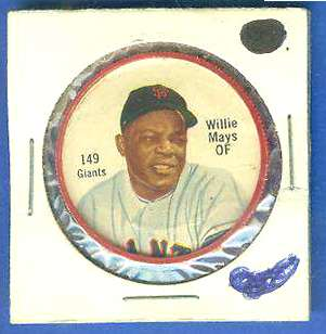 1962 Salada Coins #149A Willie Mays (RED) (Giants) Baseball cards value