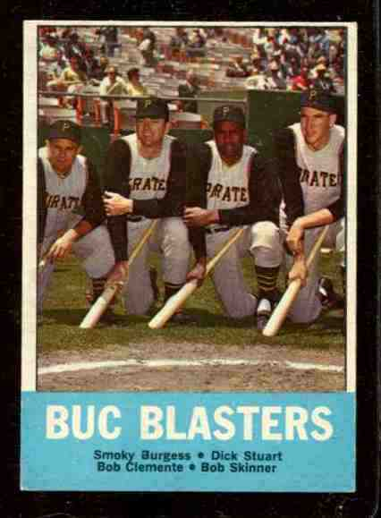 1963 Topps #.18 ROBERTO CLEMENTE 'Buc Blasters' [#csc] (Pirates) Baseball cards value