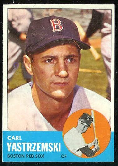 1963 Topps #115 Carl Yastrzemski [#b] (Red Sox) Baseball cards value