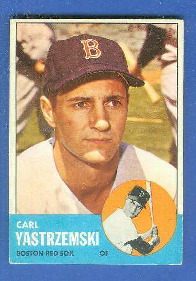 1963 Topps #115 Carl Yastrzemski [#csc] (Red Sox) Baseball cards value