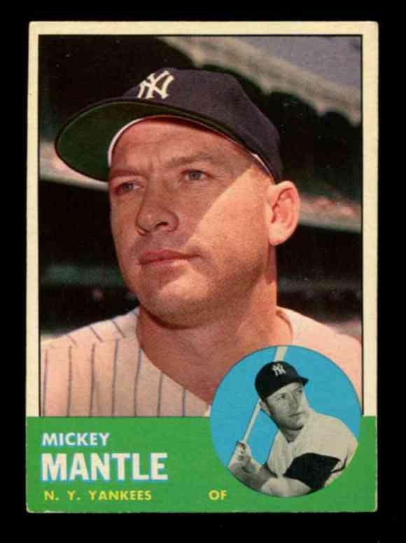 1963 Topps #200 MICKEY MANTLE [#x] (Yankees) Baseball cards value