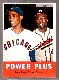 1963 Topps #242 'Power Plus' (Hank Aaron/Ernie Banks) [#a] (Braves/Cubs)
