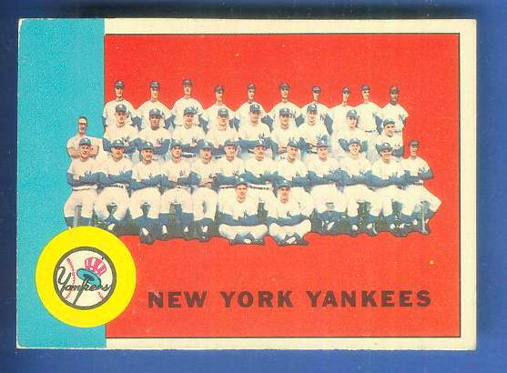 1963 Topps #247 Yankees TEAM card [#csc] Baseball cards value