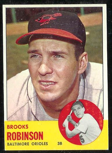 1963 Topps #345 Brooks Robinson [#a] (Orioles) Baseball cards value