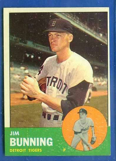 1963 Topps #365 Jim Bunning [#bsc] (Tigers) Baseball cards value